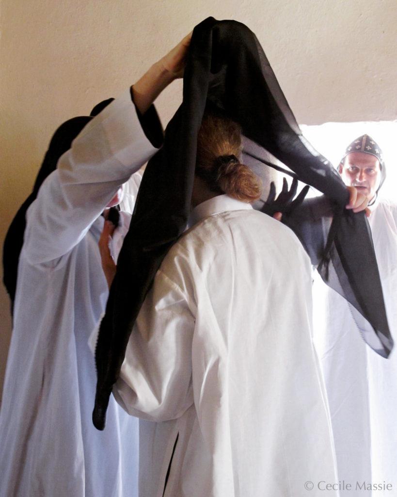 Prise d'habit de soeur Carol, au monastère de Deir Mar Elian, septembre 2010