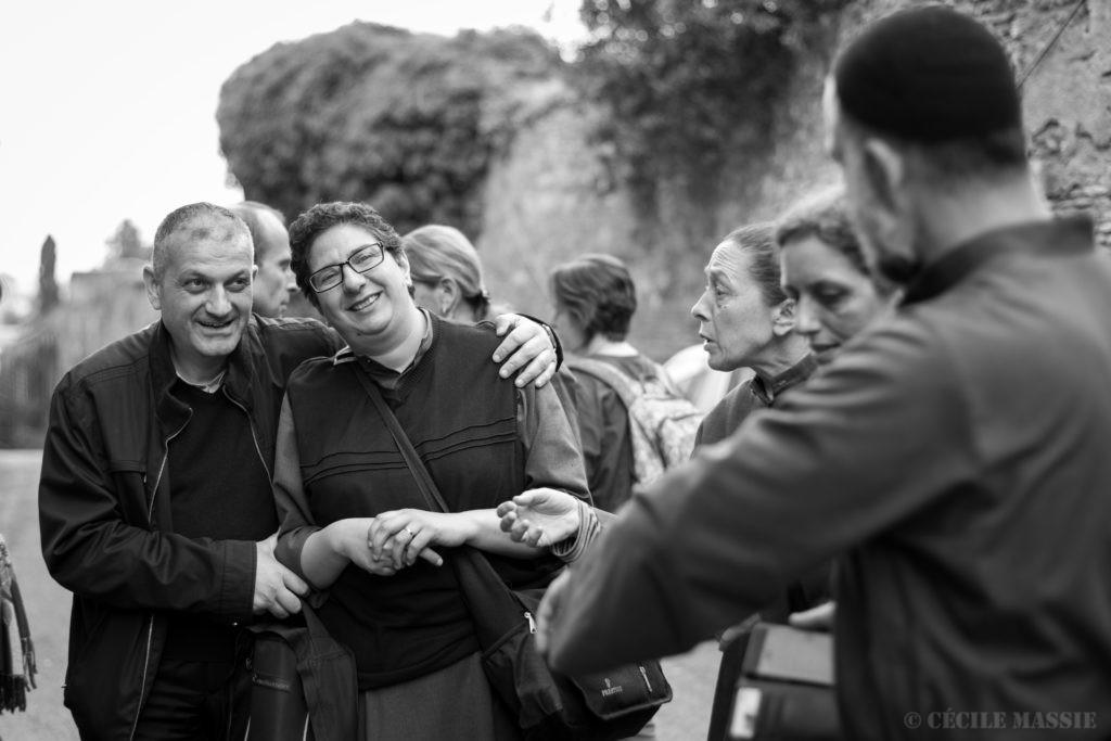 Le Père Jacques et une partie de la Communauté, à Rome, Mai 2016